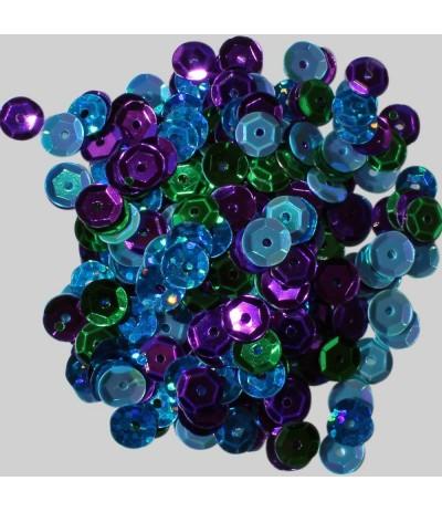 Pailletten Blau, Lila, Grün - Clear Scraps