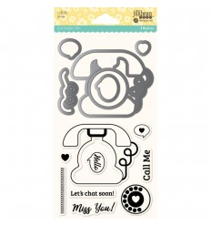 "Clear Stamps und Stanzschablonen Set ""Call Me - Jillibean Soup"