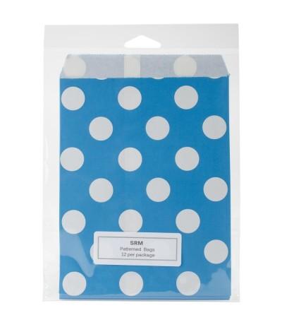 Papiertüten blau, gepunktet - SRM