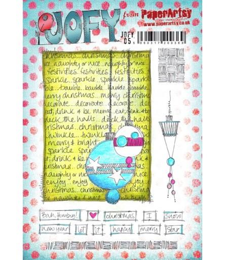 Cling Stempel Set Weihnachtskugel mit Hintergrund - JoFY
