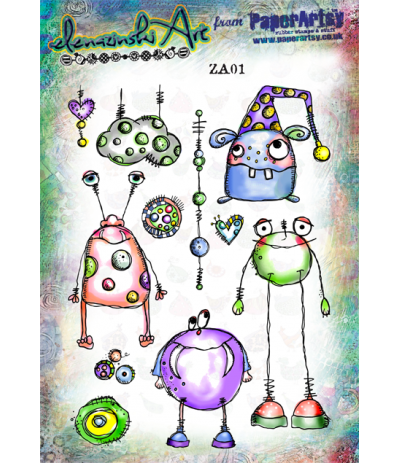 Cling Stempel Set Monster - PaperArtsy
