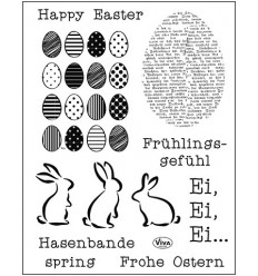 Clear Stempel Frohe Ostern - Viva Decor