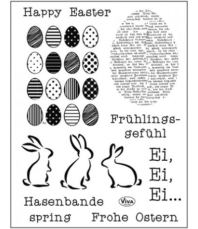 Clear Stamps Frohe Ostern - Viva Decor