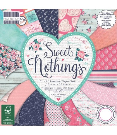 Scrapbooking Papier Sweet Nothing 6x6 - First Edition