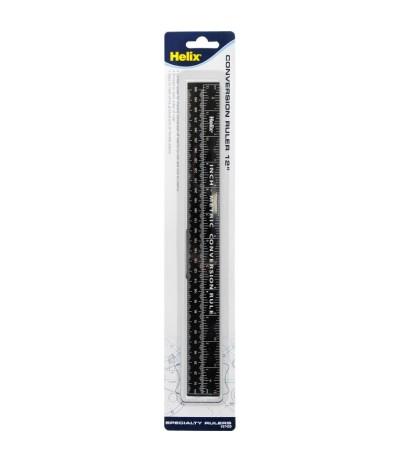 Massstab 30cm / 12 Inch, schwarz - Helix