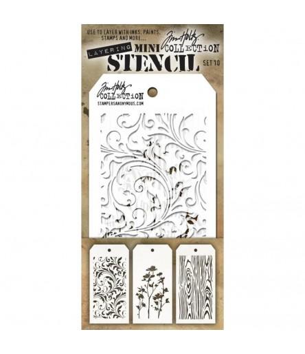 Stencil Schablonen Mini Set Nr. 10 - Tim Holtz
