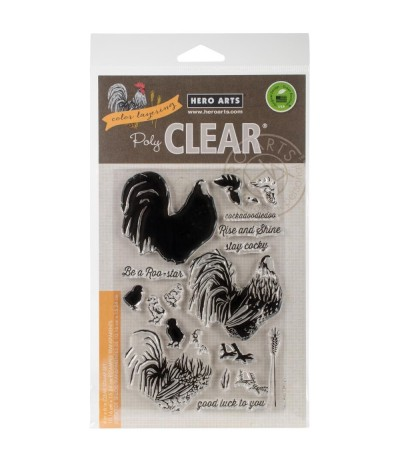 Clear Stamps Color Layering Rooster - Hero Arts