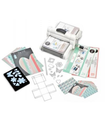 Sizzix Big Shot Plus Starter Kit Weiss & Grau DIN A4