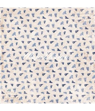 Scrapbooking Papier Denim & Friends - Sneakers - Maya Design