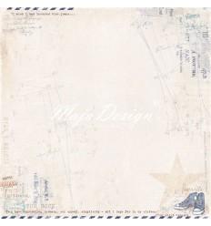 Scrapbooking Papier Denim & Friends - Blue Jeans - Maya Design