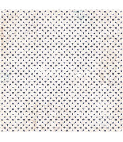 Scrapbooking Papier Denim & Friends - Stars & Stripes - Maya Design