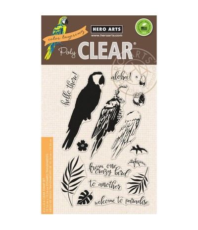 Clear Stamps Color Layering Parrot - Hero Arts