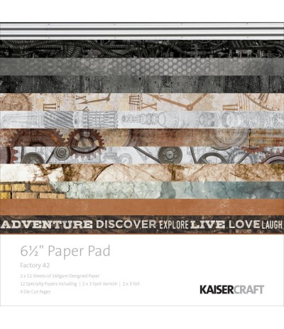 "Scrapbooking Papier Factory 42, 6.5"" x 6.5"" - Kaiser Craft"