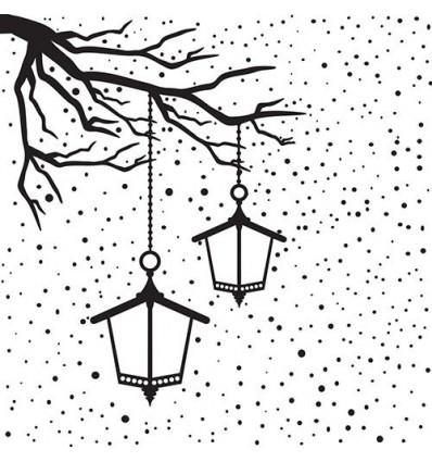 Prägeschablone Snowy scene with lanterns - Nellie's Choice