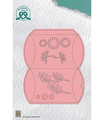 Stanzschablone Pillow Box mit Blumen - Nellie's Choice