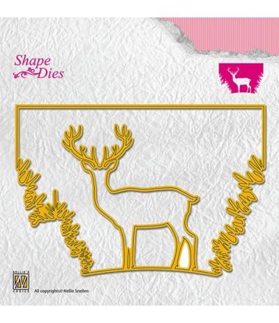 Stanzschablone Reindeer in the forrest - Nellie's Choice