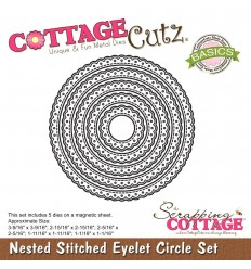 Stanzschablonen Stitched Eyelet Circle Set - Cottage Cutz