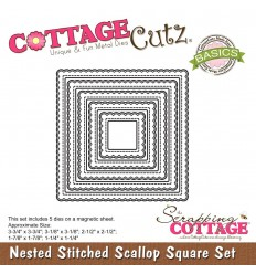 Stanzschablonen Stitched Eyelet Square Set - Cottage Cutz