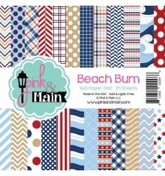 Scrapbooking Papier Beach Bum - Pink & Main