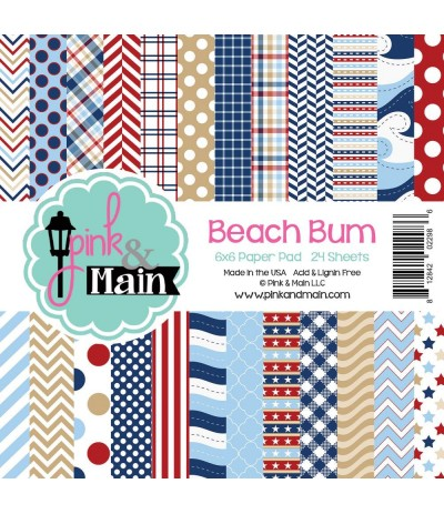 Scrapbooking Papier Beach Bum - Pink & Main