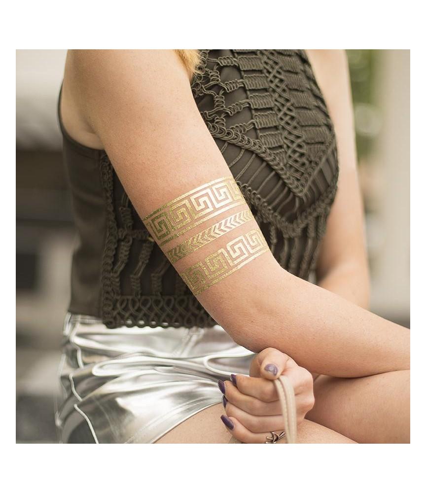 Tattoo Papier Gold Silhouette