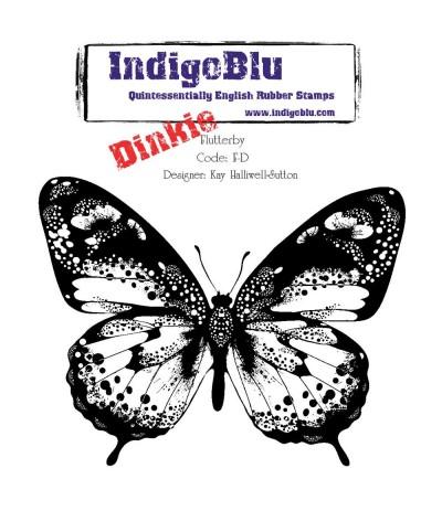 Cling Stempel Fluttery-Dinkie - Indigo Blu