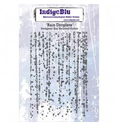 Cling Stempel Rain Droplets - Indigo Blu