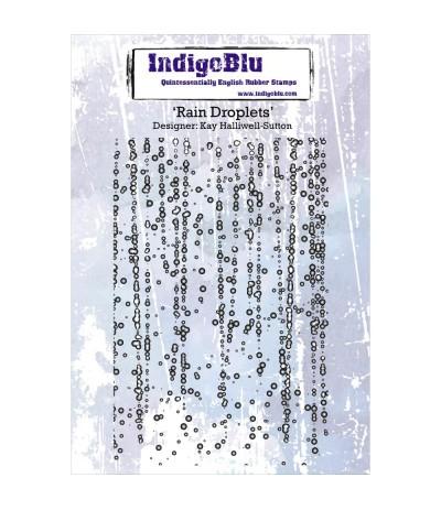 Cling Stempel Rain Droplets - Indigo Blu