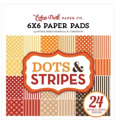 "Scrapbooking Papier Dots & Stripes 6""x6"" - Echo Park"
