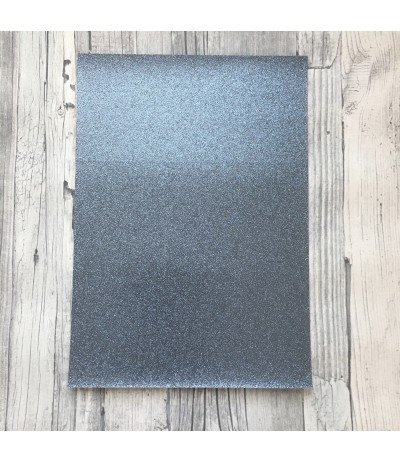 Glitter Papier anthrazit, selbstklebend, A4 - Artoz