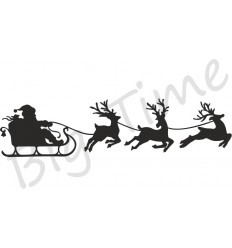 Santas Schlitte Stempel