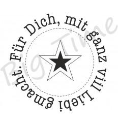 Für Dich mit Stern Stempel, rund, auf EZ Mount