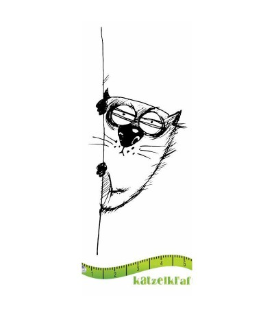 Les gros chats Gummistempel - Katzelkraft