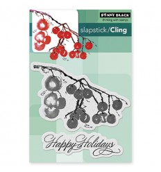 Cling Stempel Berry Merry Christmas - Penny Black