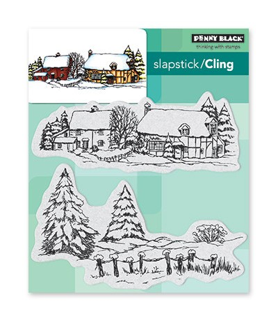 Cling Stempel Snow Covered - Penny Black ***