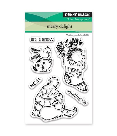 Clear Stamps Merry Delight - Penny Black ***