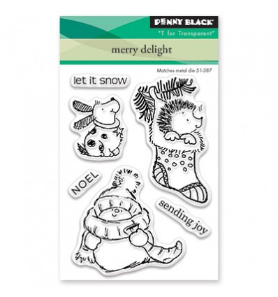 Clear Stamps Merry Delight - Penny Black