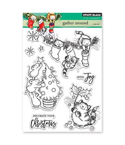 Clear Stamps Gather Around - Penny Black ***