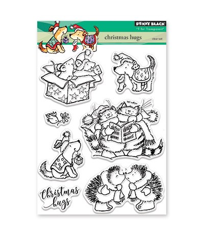 Clear Stamps Christmas Hugs - Penny Black ***