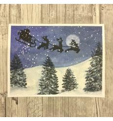 Santas Schlitten Stempel