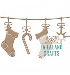 Stanzschablone Stockings Banner - La-La Land