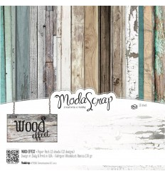 Scrapbooking Papier Wood Effect, 15x15cm - Moda Scrap