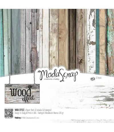 Scrapbooking Papier Wood Effect, 15x15cm - Elizabeth Craft