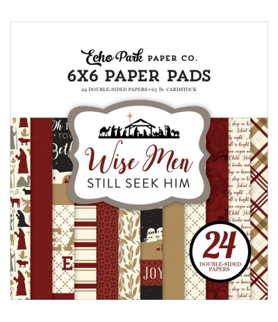 Scrapbooking Papier Wise Men Still Seek Him, 15x15cm - Echo Park