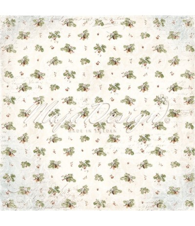 Scrapbooking Papier - Joyous Winterdays - Beautiful Pine - Maja Design