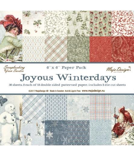 """Scrapbooking Papier - Joyous Winterdays - 6"""" x 6"""" - Maja Design"""