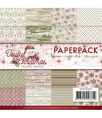 Scrapbooking Papier Joyful Christmas - Precious Marieke