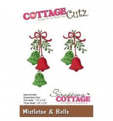 Stanzschablone Misteltoe & Bells - Cottage Cutz
