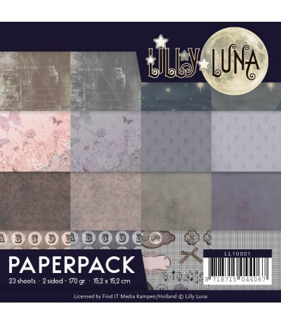 Scrapbooking Papier Lilly Luna, 15.2 x 15.2 cm