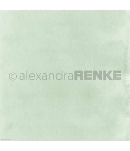 Scrapbooking Papier Mimis Kollektion Aquarell schilfgrün hell - Alexandra Renke